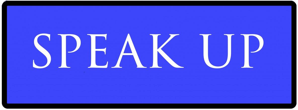 speak up button